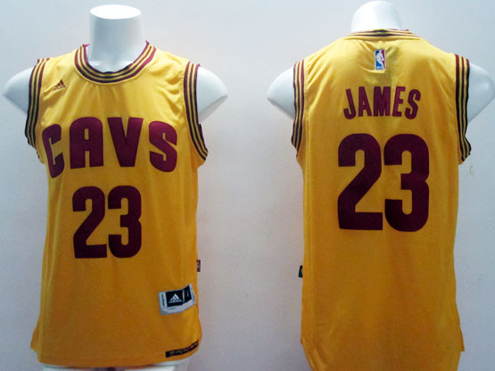 Mens Nba Cleveland Cavaliers #23 Lebron James Yellow (cavs 2015 New) Jersey
