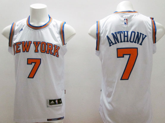 mens nba New York Knicks #7 Carmelo Anthony white (2015 new) jersey