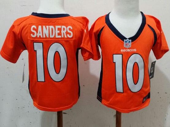 Kids Nfl Denver Broncos #10 Sanders Orange Jersey