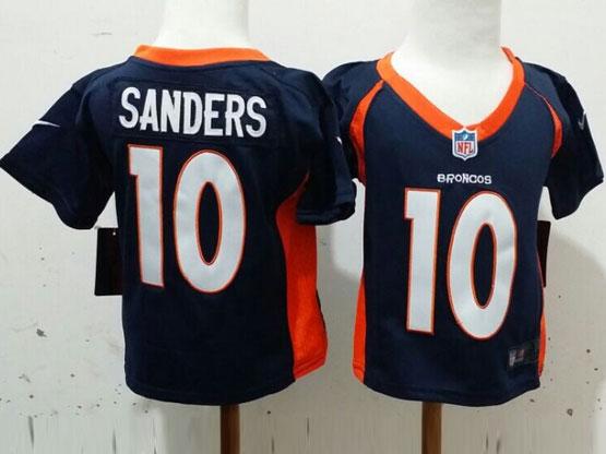 Kids Nfl Denver Broncos #10 Sanders Blue Jersey