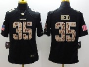 Mens Nfl San Francisco 49ers #35 Reid Salute To Service Black Limited Jersey