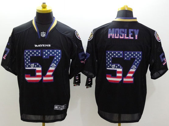 Mens Nfl Baltimore Ravens #57 C. J Mosley Black (2014 Usa Flag Fashion) Elite Jersey