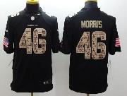 Mens Nfl Washington Redskins #46 Morris Salute To Service Black Limited Jersey