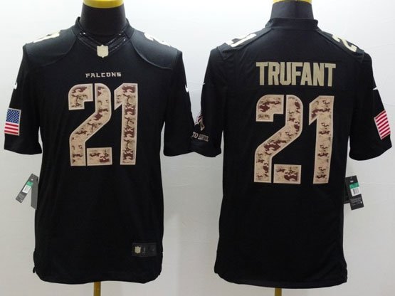 Mens Nfl Atlanta Falcons #21 Trufant Salute To Service Black Limited Jersey