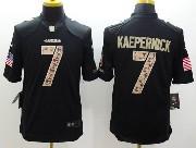 mens nfl San Francisco 49ers #7 Colin Kaepernick salute to service black limited jersey