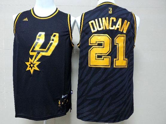 Mens Nba San Antonio Spurs #21 Duncan Dark Blue Precious Metals Fashion Swingman Jersey