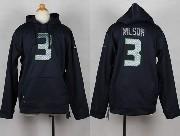 Youth Nfl Seattle Seahawks #3 Wilson Blue Hoodie Jersey