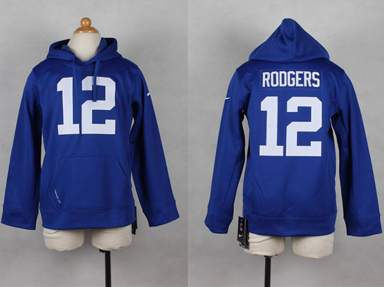 youth nfl Indianapolis Colts #12 Andrew Luck blue hoodie jersey