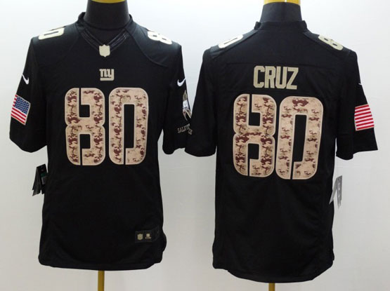 mens nfl New York Giants #80 Victor Cruz salute to service black limited jersey