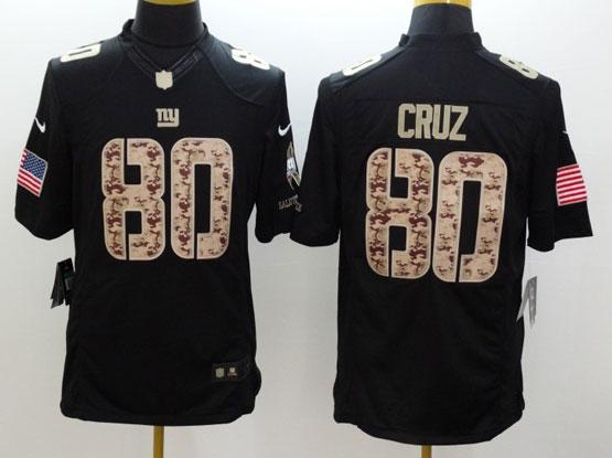 Mens Nfl New York Giants #80 Cruz Salute To Service Black Limited Jersey