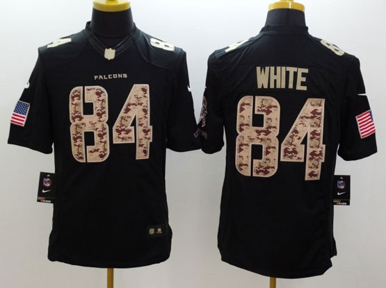 Mens Nfl Atlanta Falcons #84 White Salute To Service Black Limited Jersey