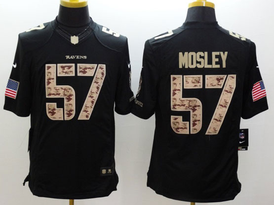 Mens Nfl Baltimore Ravens #57 C. J Mosley Salute To Service Black Limited Jersey