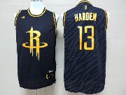 Mens Nba Houston Rockets #13 Harden Dark Blue Precious Metals Fashion Swingman Jersey