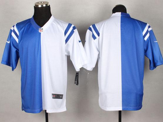 Mens Nfl Indianapolis Colts (blank) Blue&white Split Elite Jersey