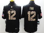 Mens Nfl Seattle Seahawks #12 Fan Salute To Service Black Limited Jersey