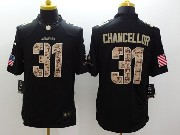 mens nfl Seattle Seahawks #31 Kam Chancellor salute to service black limited jersey