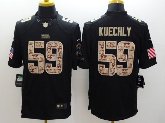 Mens Nfl Carolina Panthers #59 Kuechly Salute To Service Black Limited Jersey