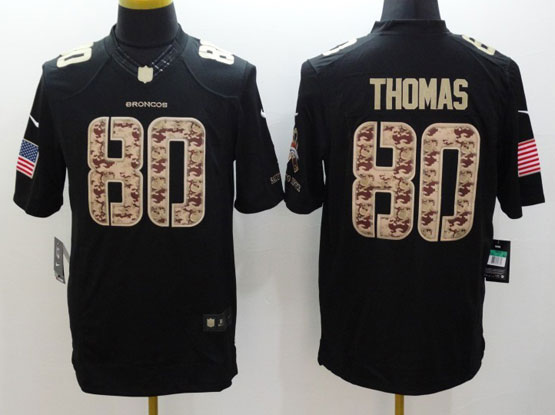 Mens Nfl Denver Broncos #80 Thomas Salute To Service Black Limited Jersey