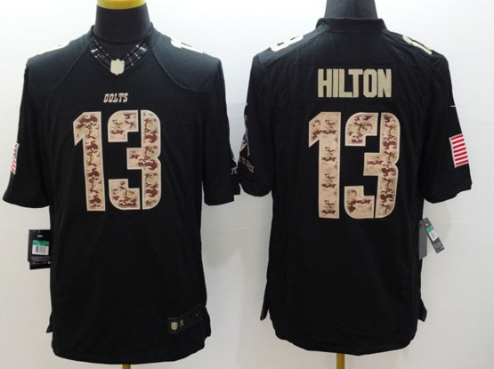 Mens Nfl Indianapolis Colts #13 Hilton Salute To Service Black Limited Jersey