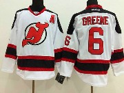 Mens reebok nhl new jersey devils #6 greene white a patch Jersey
