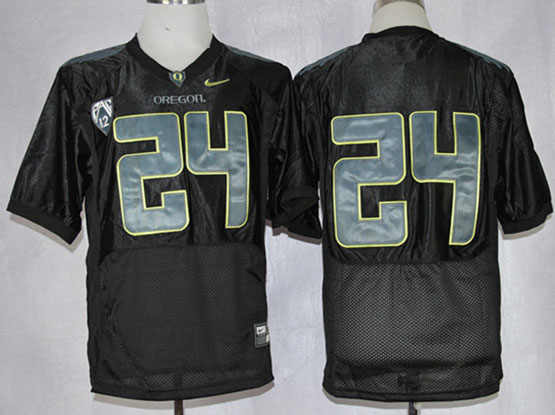 Mens Ncaa Nfl Oregon Ducks #24 Tyner Black Pro Combat Jersey