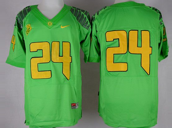 Mens Ncaa Nfl Oregon Ducks #24 Tyner Green (gold Number) Elite Jersey