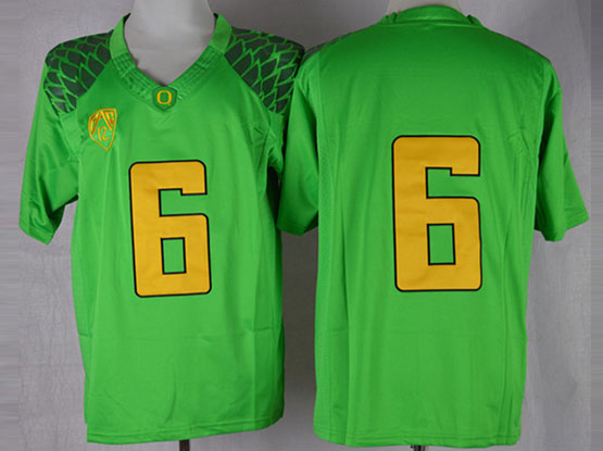 Mens Ncaa Nfl Oregon Ducks #6 Nelson Green (gold Number) Limited Jersey