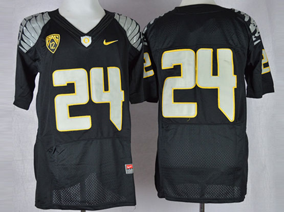 Mens Ncaa Nfl Oregon Ducks #24 Tyner Black Elite Jersey