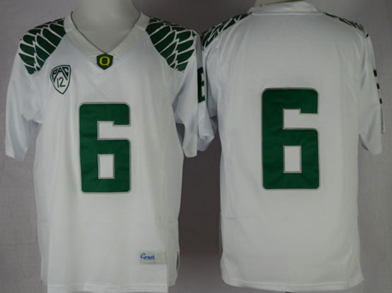 Mens Ncaa Nfl Oregon Ducks #6 Nelson White (green Number) Limited Jersey