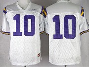 Mens Ncaa Nfl Lsu Tigers #10 Jennings White Jersey