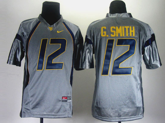 Youth Ncaa Nfl West Virginia Mountaineers #12 G.smith Gray Jersey