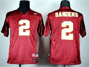 Youth Ncaa Nfl Florida State Seminoles #2 Sanders Red (white Number) Jersey