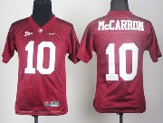 Youth Ncaa Nfl Alabama Crimson #10 Mccarron Red Sec Jersey Gz