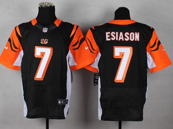 Mens Nfl Cincinnati Bengals #7 Esiason Black Elite Jersey
