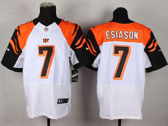 Mens Nfl Cincinnati Bengals #7 Esiason White Elite Jersey