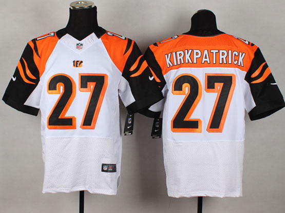 Mens Nfl Cincinnati Bengals #27 Kirkpatrick White Elite Jersey