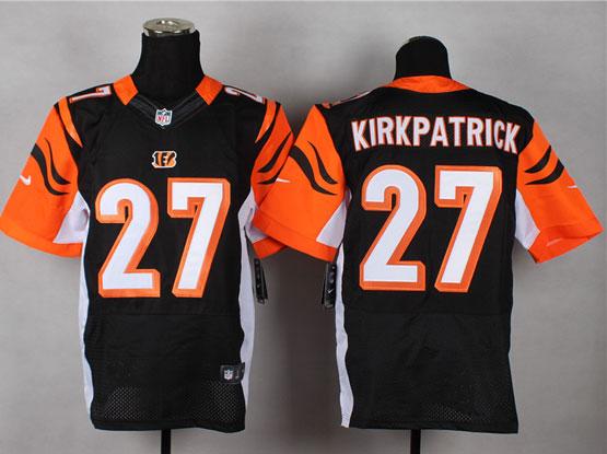 Mens Nfl Cincinnati Bengals #27 Kirkpatrick Black Elite Jersey