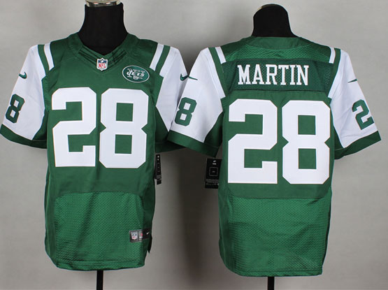 mens nfl New York Jets #28 Curtis Martin green elite jersey