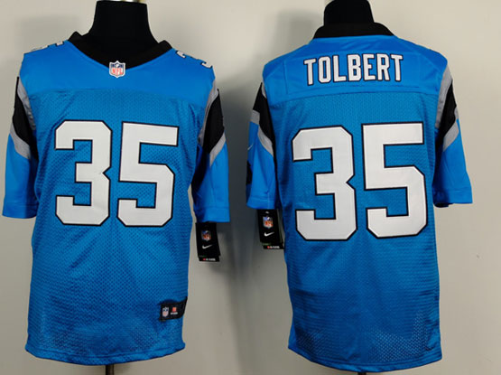 Mens Nfl Carolina Panthers #35 Tolbert Light Blue Elite Jersey