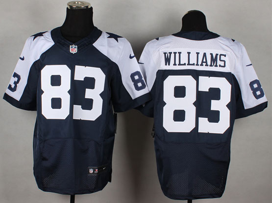 Mens Nfl Dallas Cowboys #83 Williams Blue Thanksgiving Elite Jersey