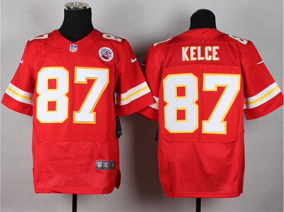 Mens Nfl Kansas City Chiefs #87 Kelce Red Elite Jersey