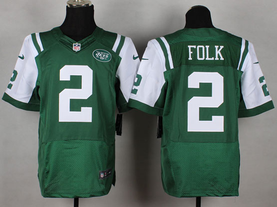 Mens Nfl New York Jets #2 Folk Green Elite Jersey