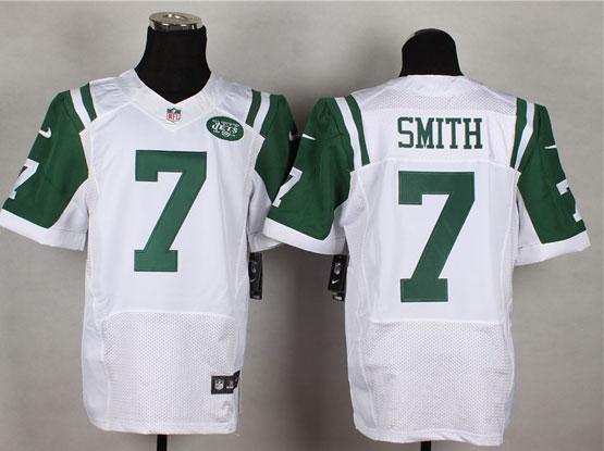 Mens Nfl New York Jets #7 Smith White Elite Jersey
