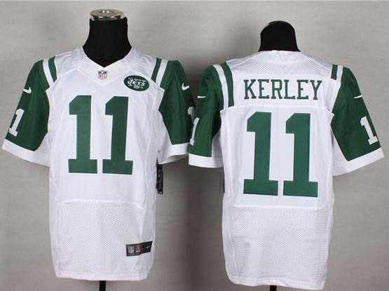 Mens Nfl New York Jets #11 Kerley White Elite Jersey