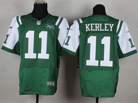Mens Nfl New York Jets #11 Kerley Green Elite Jersey