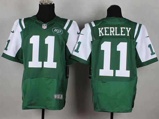 Mens Nfl New York Jets #11 Kerley Green Elite Jersey