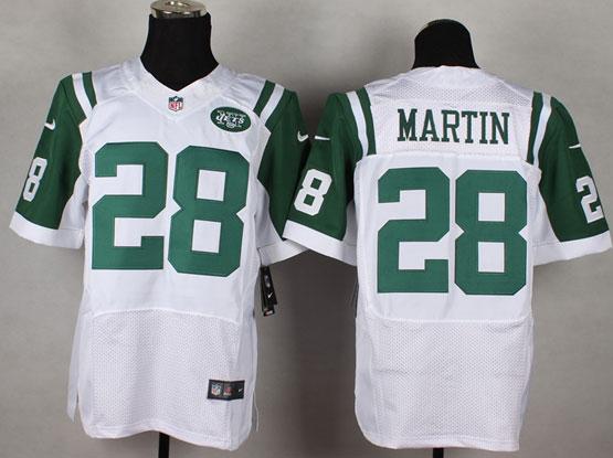 mens nfl New York Jets #28 Curtis Martin white elite jersey