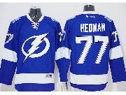 Mens reebok nhl tampa bay lightning #77 hedman blue Jersey