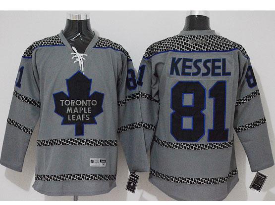 Mens Reebok Nhl Toronto Maple Leafs #81 Kessel Gray Cross Check Premier Fashion Jersey