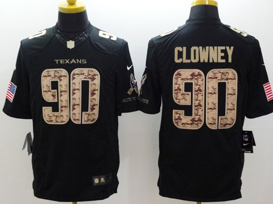 Mens Nfl Houston Texans #90 Clowney Salute To Service Black Limited Jersey